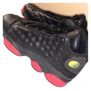 Nike Air Jordan 13 Retro Dirty Bred Black Gym Red